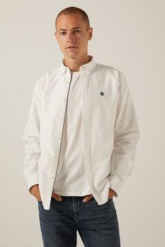 Springfield Coloured Oxford shirt white