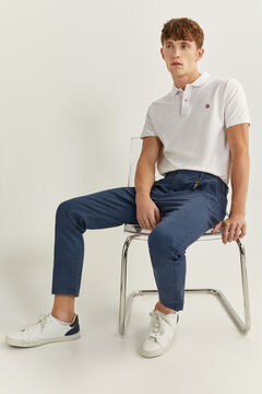 Springfield MICRO PRINT CHINOS WITH KEY RING bluish