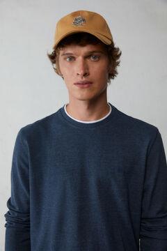 Springfield Camiseta manga larga piqué azul