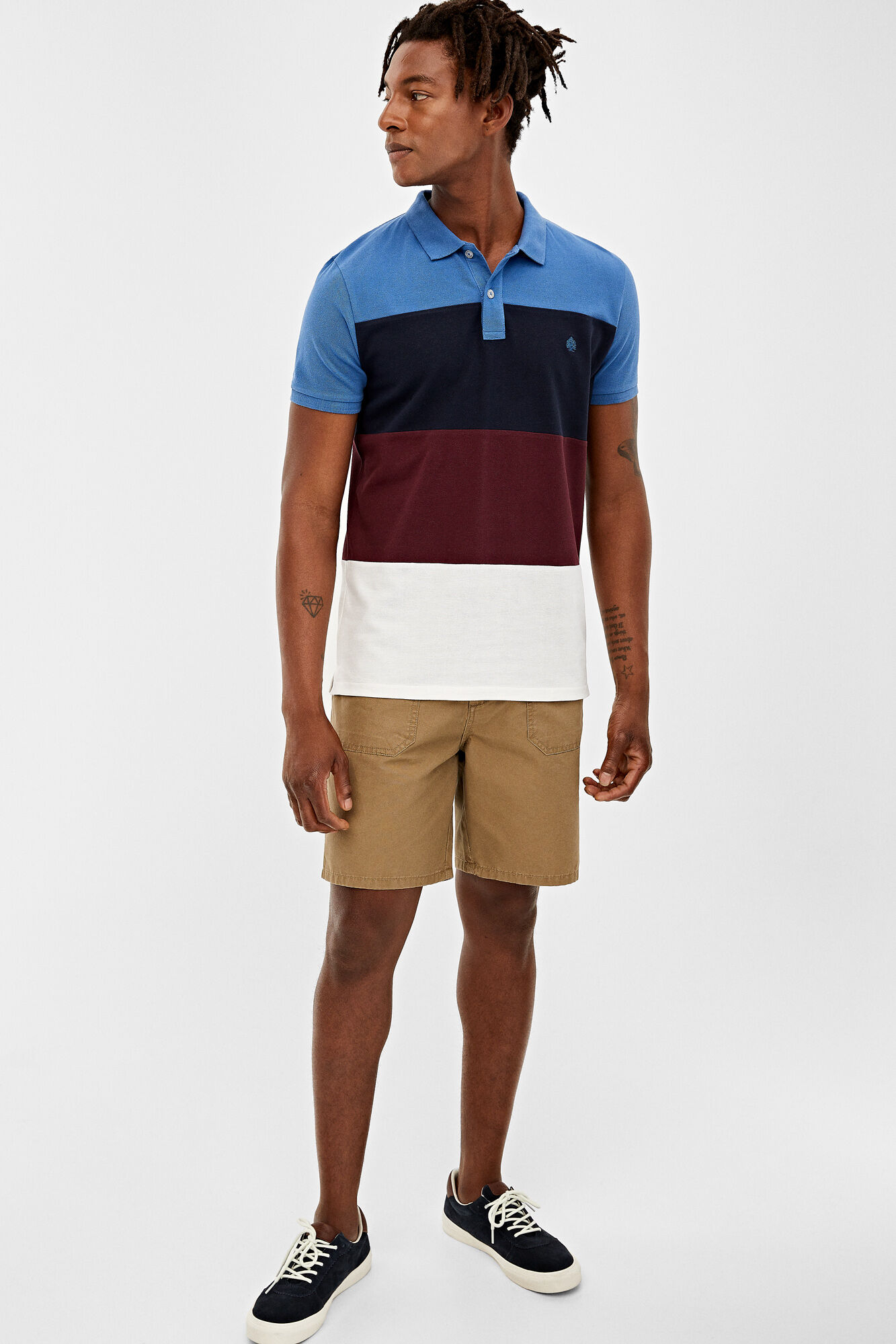 polo shirts with shorts