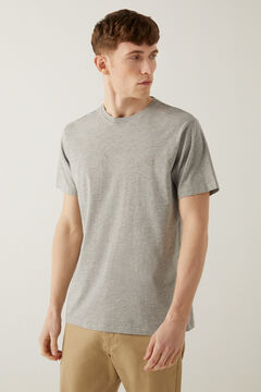 Springfield T-shirt básica logo cinza