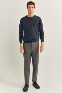 Springfield TWO-TONE TEXTURED CHINOS WITH KEY RING grey mix