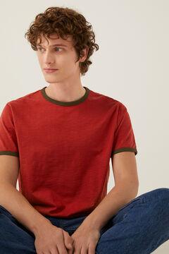 Springfield Contrasting t-shirt bordeaux