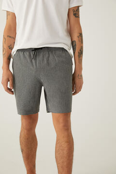 Springfield Quick dry stretch hybrid swimming shorts grey