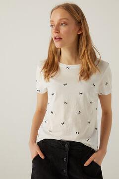 Springfield T-shirt imprimé coton biologique écru