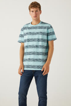 Springfield Stripy T-shirt green