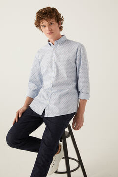 Springfield Printed shirt navy mix