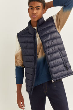 Springfield Quilted gilet with DUPONT™ Sorona® padding. navy
