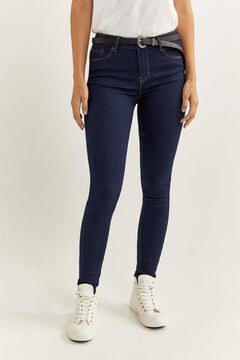 Springfield Pantalon Denim Jegging bleu royal