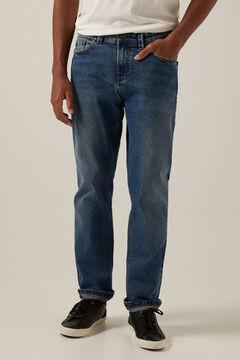 Springfield Medium dark wash regular fit jeans blue