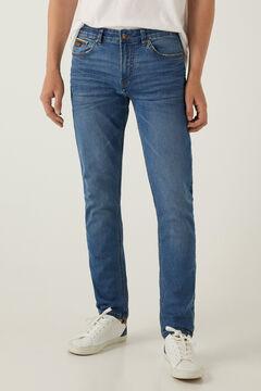 Springfield Medium-light wash slim fit lightweight jeans blue