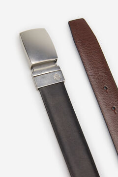Springfield LEATHER VENEER DRESS BELT black