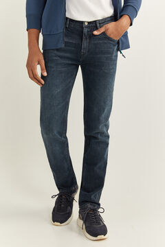 Springfield VERY DARK WASH SLIM FIT JEANS blue