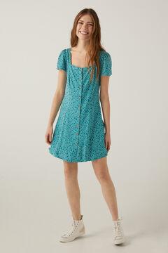 Springfield Kleid kurz Knöpfe grüne jagd