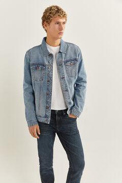 Springfield Jeans slim lavagem muito escura malva