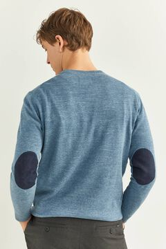 Springfield SUEDE ELBOW PADS JUMPER blue