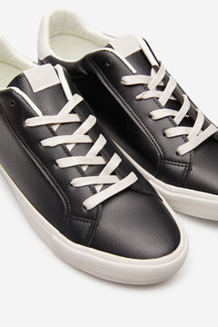 Springfield Black faux leather sneaker black