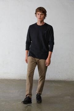Springfield Camiseta manga larga básica negro