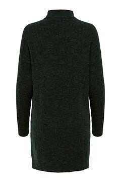 Springfield Jersey-knit mock turtleneck dress green