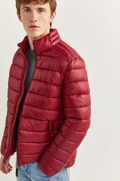 Springfield Water-repellent padded jacket deep red