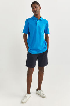 Springfield ESSENTIAL PIQUE POLO SHIRT blue
