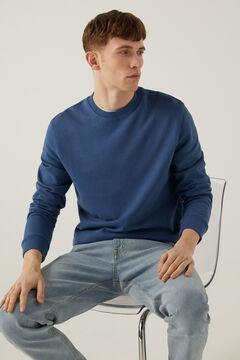 Springfield Sweat-shirt ras de cou blau