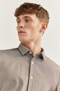 Springfield Textured shirt brown