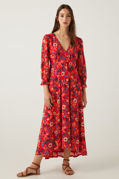 Springfield Printed dress red