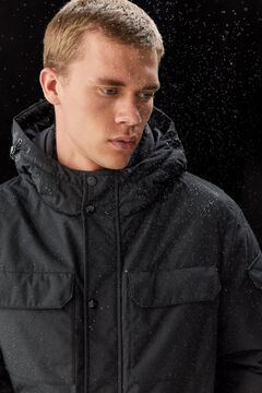 Springfield PARKA LONGUE DÉPERLANTE REMBOURRAGE DUVET ET PLUME RDS ET POLYESTER KEEP IT WARM ! noir