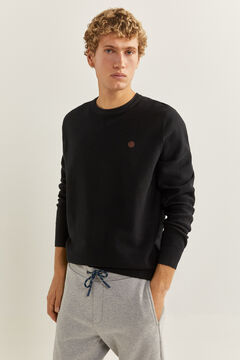 Springfield Black textured jumper black