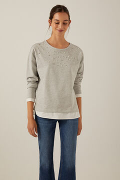 Springfield Organic cotton Bonjour sweatshirt grey