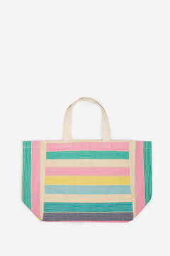 Springfield Lurex stripes shopper bag violet