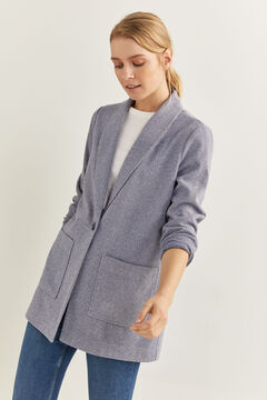 Springfield Long grey blazer blue
