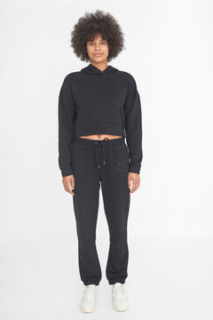 Springfield Crop hooded sweatshirt black