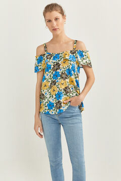 Springfield Cold shoulder blouse steel blue