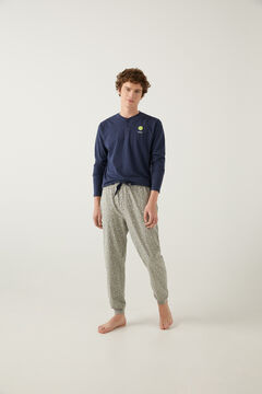 Springfield Pijama estampado tennis plomo mezcla