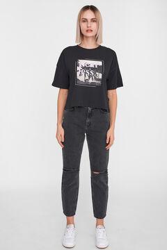 Springfield Semi crop t-shirt black