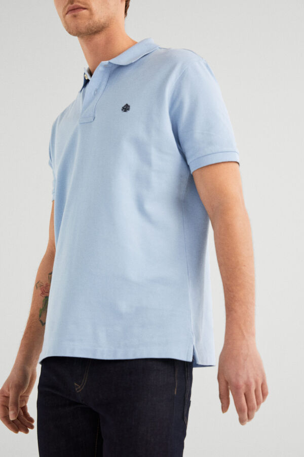 3ba6e7f3f Springfield Essential polo shirt steel blue