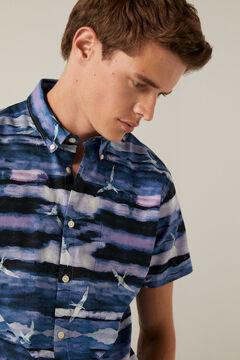 Springfield Printed shirt navy mix