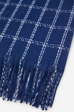 Springfield Checked scarf steel blue