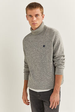 Springfield ORGANIC COTTON POLO NECK JUMPER grey