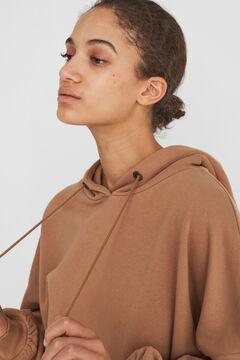Springfield Oversize hooded sweatshirt brown