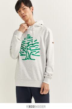 Springfield Sudadera capucha árbol light gray