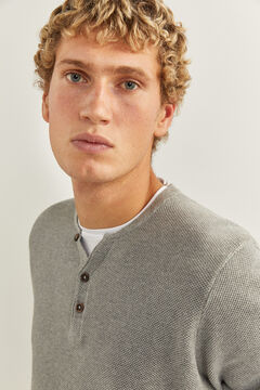 Springfield Layered Henley jumper gray