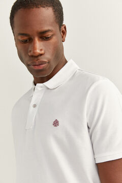 Springfield Essential slim fit polo shirt white