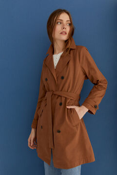 Springfield Long trench coat camel
