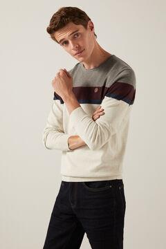 Springfield Placement stripe jumper grey