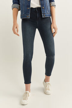 Springfield Slim Fit Cropped Jeans navy mix