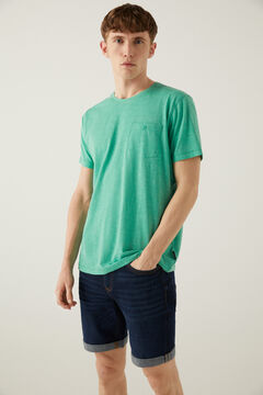 Springfield Textured t-shirt with pocket green