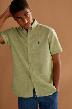 Springfield Camisa manga corta lino verde jungla